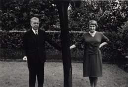 Rene & Georgette Magritte Holding Hands Behind a Tree, 1965, 11 x 14 Silver Gelatin Photograph, Ed. 25