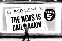 Harlem Daily News, 1964, Archival Pigment Print