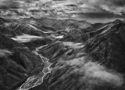 The Brooks Range Mountains, Close to the Achillik area, not Far From the Coastal Arctic Plain, 16 x 20 inches, Silver Gelatin Photograph
