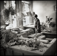 Soldier at Ground Zero, New York, NY, 2001, 20 x 16 inches, Silver Gelatin Photograph, Ed. of 25