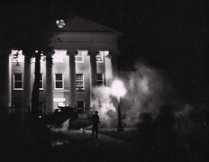 Tear gas and tanks on the campus of the University of Mississippi, Oxford, Mississippi, 1962