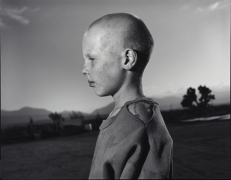 Jesse Damm with a Shaved Head, Llano, California, 1994, Silver Gelatin Photograph