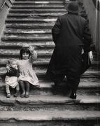 Stairs to Maria della Catena Church, Naples, 1961, 11 x 8-58 Vintage Silver Gelatin Photograph