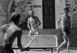 Paul Newman and Robert Redford (ping pong), Mexico, 1968