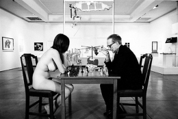 Marcel Duchamp Playing Chess with a Nude Eve Babitz, Pasadena Museum of Art, 1960, Available Sizes: