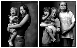 Babysitter / Inbred Sisters with Second Cousin, 2007 / 2004, 20 x 32-1/2 Diptych, Archival Pigment Print, Ed. 20