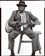John Lee Hooker, Vallejo, CA, 1990, 20 x 16 inches, Silver Gelatin Photograph, Ed. of 25
