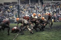 Jim Brown vs. 49ers, December, 1962, 20 x 24 Color Photograph, Ed. 350