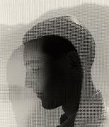 Young Man Behind a Curtain, Hamburg, 1932, 16 x 12 Silver Gelatin Photograph