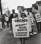 Chicago AFS-CME Demands Equal Rights for Memphis Strikers, 1968, Archival Pigment Print