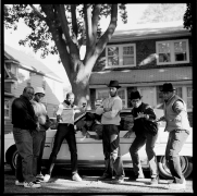 'A Great Day in Hollis' Run DMC and the Hollis Crew, Hollis, Queens, 1984, Archival Pigment Print