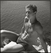 Rittis friend on the coast near Spalato, Croatia, 1937, Silver Gelatin Photograph