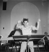 Portrait of Leonard Bernstien, Carnegie Hall, New York, NY, 14 x 11 Silver Gelatin Photograph