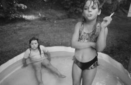 Amanda and Her Cousin AmyValdese, North Carolina,1990, Silver Gelatin Photograph