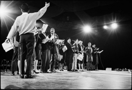 Frank Sinatra with Performers Rehearsing for President Kennedy Inaugural Gala, 1961