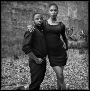 Jamel Young and Leiomy Maldonado, New York, NY, 2015, 20 x 16 inches, Silver Gelatin Photograph, Ed. of 25