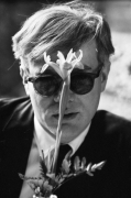 Andy Warhol (with Flower), 1963, Archival Pigment Print