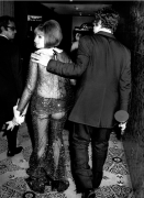 Barbra Streisand in her Scaasi dress with her 'Funny Girl' Oscar on the way to a party The Beverly Hilton Hotel, Time Magazine, 1969, Silver Gelatin Photograph