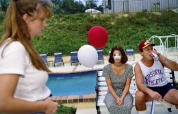 Lindsey, 18, at a Fourth of July party three days after her nose job, Calabasas, California, 1993. Five of her close friends at Calabasas High School have already had plastic surgery.