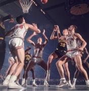 Princeton vs. Michigan, ECAC Holiday Festival, Madison Square Garden, NY, 1964, Color Photograph