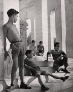 Boys Near the EUR, Rome, 1951, 11-5/8 x 9-1/4 Vintage Silver Gelatin Photograph