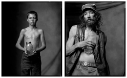 Boy with Fireflies / Moonshiner, 2005 / 2004, 20 x 32-1/2 Diptych, Archival Pigment Print, Ed. 20