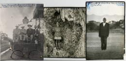 Teddy Roosevelt, Warren Sheldrick, Kamante, 1962, Three Silver Gelatin Photographs Joined as One with Collage and Ink Drawing