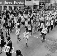 Thousands march through fifteen blocks of downtown Memphis, 1968, Archival Pigment Print