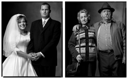 Newlyweds / Married Couple, 2004 / 2004, 20 x 32-1/2 Diptych, Archival Pigment Print, Ed. 20
