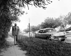 Sam Goldwyn, (Walking up Sidewalk), 1959, 16 x 20 Silver Gelatin Photograph