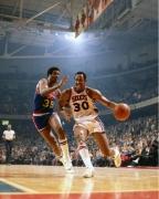 George McGinnis & Paul Silas, Philadelphia 76ers vs Denver Nuggets, The Spectrum, Philadelphia, 1977, Color Photograph