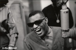 Ray Charles at a Recording Session for Atlantic Records, New York City, 1962, 11 x 14 Silver Gelatin Photograph