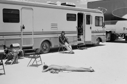 Carmen Kass, Death Valley, CA, Vogue, 2000