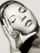 Kate Moss, Sun and Henna,Marrakech,1993, Archival Pigment Print