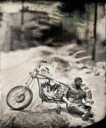Biker, Los Angeles, Unique Collodion Wet Plate: please contact the gallery for details
