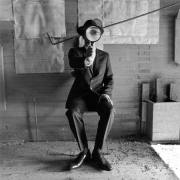 Collin with Magnifying Glass, Alberta, Canada, 2004, Archive Number: HSI-0804-082-10, 16 x 20 Silver Gelatin Photograph