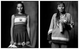 Cheerleader / Indian Girl, 2004 / 2003, 20 x 32-1/2 Diptych, Archival Pigment Print, Ed. 20
