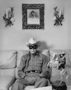 "Clayton Moore, The Original ""Lone Ranger"", Los Angeles, 1992, Silver Gelatin Photograph"