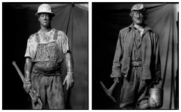 Oil Field Worker / Coal Miner, 2003 / 2001, 20 x 32-1/2 Diptych, Archival Pigment Print, Ed. 20