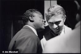 Miles Davis and Steve McQueen, Backstage at Monterey Pop Festival, 1963, 11 x 14 Silver Gelatin Photograph