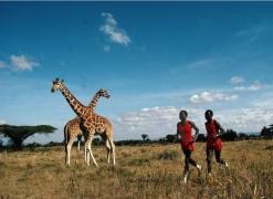 Kipkoech Cheruiyot & Charles Cheruiyot, Nanyuki, Kenya, 1984, Color Photograph