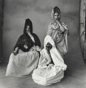 Three Guedras, One in White, Morocco, 1971, Silver Gelatin Photograph, Ed. of 16