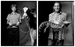 County Fair Livestock Show Contestant / Cajun Man, 2003 / 2003, 20 x 32-1/2 Diptych, Archival Pigment Print, Ed. 20