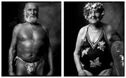 Sunbather / Swimmer, 2007 / 2007, 20 x 32-1/2 Diptych, Archival Pigment Print, Ed. 20