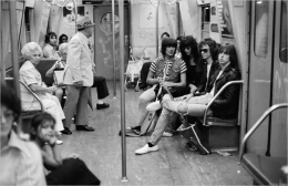 The Ramones, Subway, NYC, 1975