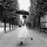 Mira with Umbrella, Paris, France, 2007, Archive Number: EBR-0907-100-03, 16 x 20 Silver Gelatin Photograph