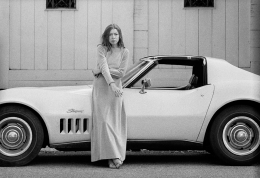 Author Joan Didion at home in Hollywood, Time Magazine, 1968, Silver Gelatin Photograph