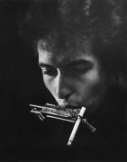 Bob Dylan With Cigarette In Harmonica Holder, Philadelphia, PA, 1964, Silver Gelatin Photograph