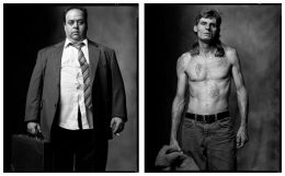 Office Worker / Carney, 2002 / 2005, 20 x 32-1/2 Diptych, Archival Pigment Print, Ed. 20