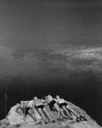 Four boys in the sun, Porto Fino, Italy, c.1936, Silver Gelatin Photograph